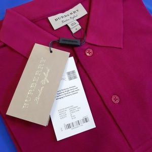 BURBERRY LONDON CORAL PINK MENS POLO SHIRT